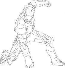 Ironman Coloring Pages Free Printable Iron Man For Kids Best Book