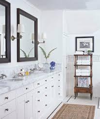 master bath colonial white cabinet mirror