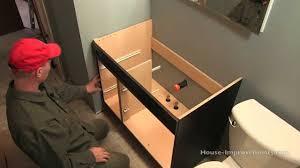 Diy Bathroom Vanity Tower by How To Install A Bathroom Vanity Youtube