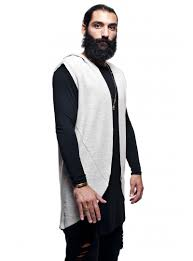men u0027s long sleeve vest long sleeve gray oversize stratom