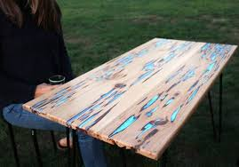 Wood Thats Been Damaged With Fungal Growth Probably Isnt Your First Choice Of Material For A New Table Youre Building That Doesnt Mean It