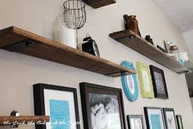 Living Rooms Barn Wood Shelves Industrial Rustic Wall Shelf
