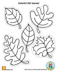 Cut And Color Fall Leaves With Our Free Kids Activity Printable On Alextoys