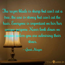 100 The Razor Razor Blade Is Sharp Quotes Writings By MohdSodiq Akins