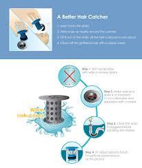 Bathroom Drain Hair Stopper Target by Creative Tub Drain Strainer Hair Catcher 1 44 Online Shopping