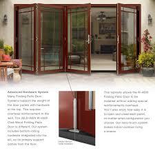 Jen Weld Patio Doors With Blinds by Jeld Wen 74 5 In X 96 375 In W 4500 Series Left Hand Folding