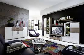 wohnwand wohnzimmer set jam 6 tlg vitrine wandboard tv regal sideboard weiß eiche led beleuchtung softclose