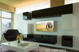 möbel für wohnzimmer schwarz weiß und glänzend prag nx 5
