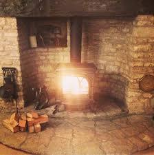 wood stove natural corner hearth ideas Google Search