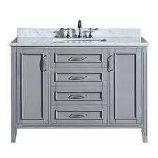 48 Inch Double Sink Vanity Top by Ove Decors Daniel 48 In Vanity In Gray With Marble Vanity Top In