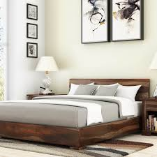 Awesome Solid Wood Platform Beds Natural Inch Storage Magnificent