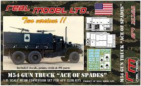 100 Resin Model Truck Parts M54 Gun Ace Of Spades Real RM35165 2018