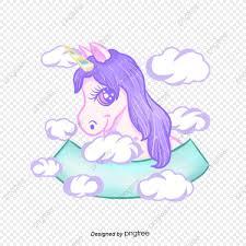 Eses Elemento De Dibujo Animado De Unicornio Arco Iris Elemento