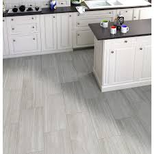 shop style selections cityside gray glazed porcelain floor tile