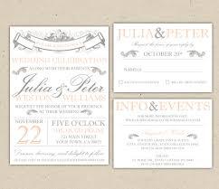Rustic Wedding Invitation Template Vintage Modern Printable