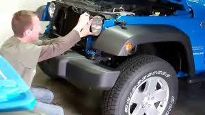 2012 jeep wrangler episode 1 grill removal and ipf headlight