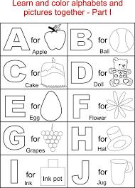 Marvellous Design Color By Letters Coloring Pages Alphabet Part I Printable Page For Kids Alphabets
