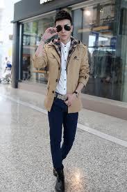 aliexpress com buy men trench coat stylish single breasted slim