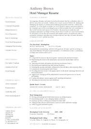 Resume For Hospitality Job Hotel Manager 2 Examples Jobs