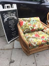 Tropical Rattan Wicker Chair Bohemian New Fabric For Sale In San Diego CA