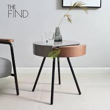 nordic moderne seite tisch wohnzimmer sofa ecke kaffee tisch runde nacht schreibtisch kreative wohnzimmer tablett möbel