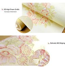 American Rustic Wallpaper For Walls Blue Beige 3D Floral Wall Paper Roll Home Decor Bedroom Letters Papier Peint