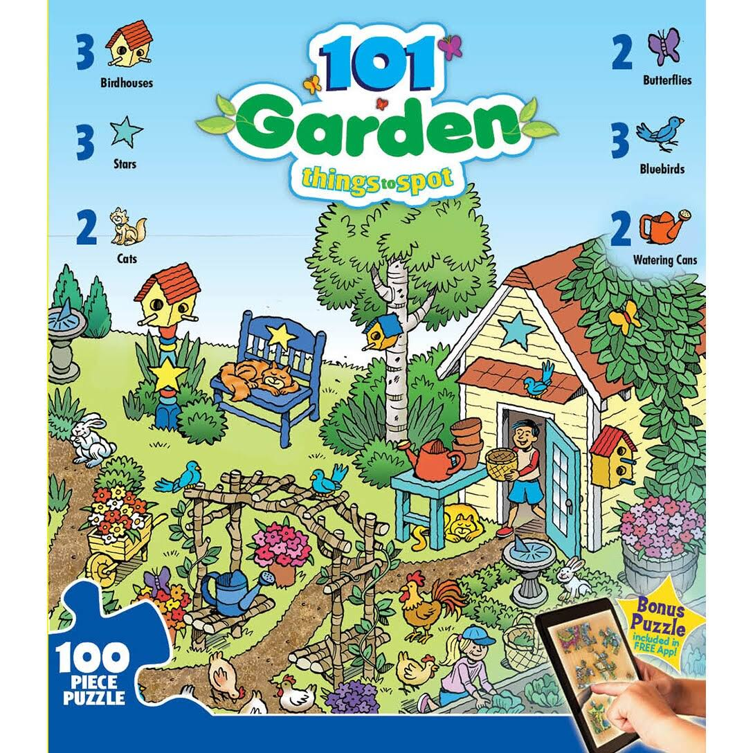 Master Pieces 101 Things to Spot in the Garden Jigsaw Puzzle - 100pcs