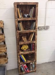 Reclaimed Wooden Pallet Bookshelf
