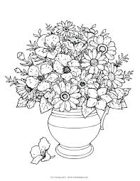 Coloring Pages Flowers For Adults Free Printable Flower And Butterflies Full Size