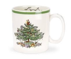 Spode Christmas Tree Platter by Spode Christmas Tree Mug Set Of 4 Spode Uk