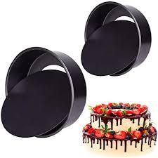 2 pack backformen set für runde schichtkuchen carbon steel kuchen form abnehmbare bottom cake moulds antihaft backformen pfanne 6 zoll und 8