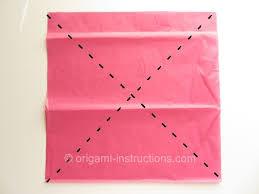Origami Tissue Lotus Step 1