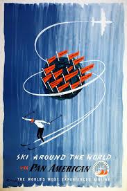 ski club mont noir original pan am world ski club poster ski around the world via