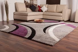 tapis aubergine pas cher tapis violet gris chaios