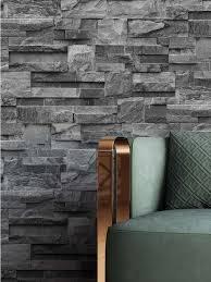 newroom papiertapete steintapete anthrazit steintapete ziegelstein backstein mauerwerk klinker stein tapete steinoptik wohnzimmer tapete steinoptik