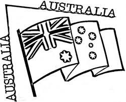 Preschool Australian Flag Coloring Page