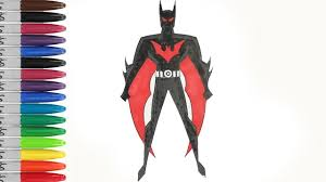 New BATMAN Beyond In Really Black Coloring Pages SAILANY Kids