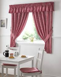 105 Inch Drop Curtains by Gingham Value Curtains Red Free Uk Delivery Terrys Fabrics