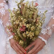 Country Dried Flower Wedding Bouquet
