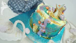 meerjungfrauen torte ohne fondant mermaid torte mit zuckerdekor diy kuchenfee ad