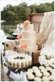 Rustic Chic Pale Pink Peach Wedding Cake