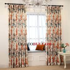 Walmart Curtains For Living Room by Walmart Curtains For Bedroom Orange Floral Pattern Velvet Thick