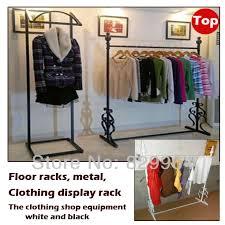 The Metal Floor Racks Clothing Shops Display Racklarge Capacity Of Hangersblack Coat