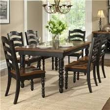 Buy Legacy Classic Furniture Concord Black 7 Piece Leg Table Dining Room Set On Sale Online