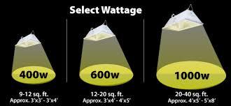 wattage calculator how much light should you organica