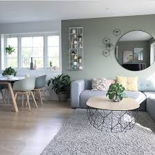 grey modern interior living room bohoesszimmer