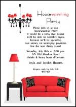 Housewarming Dinner Party Invitations