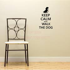 2 Keep Calm And Walk The Dog Decals Cute Puppy Wall Art Sayings Quotes