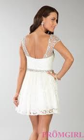 short cap sleeve cocktail dress short lace prom dress promgirl