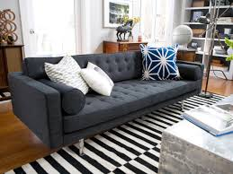 Nicole Miller Home Chevron Curtains by Rugs Striped Chevron Rug With Gray Tufted Sofa And White Cushions